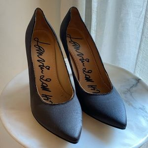 Lanvin Black Silk Heels Size 36